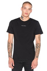 Raised By Wolves Micrologo Tee Black And White