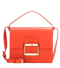Roger Vivier Viv' Icon Mini Leather Shoulder Bag Red