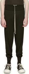 Rick Owens Green Drawstring Lounge Pants