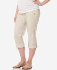 Motherhood Maternity Cuffed Cargo Pants Almond