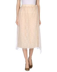 Red Soul 3 4 Length Skirts Beige