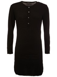 Ann Demeulemeester Long T Shirt Black