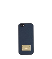 Michael Kors Saffiano Leather Phone Case For Iphone 5 Navy