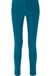 Stella Mccartney Stretch Crepe Skinny Pants Blue