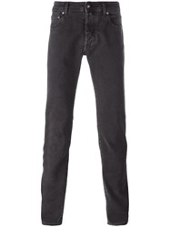 Jacob Cohen Slim Fit Trousers Brown