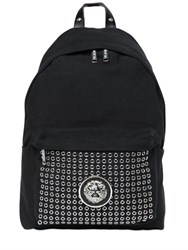Versus Eyelets And Lion Cotton Canvas Backpack