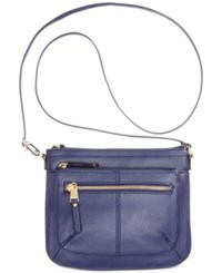Tignanello Pretty Pockets Smooth Leather Crossbody With Rfid Protection Ink
