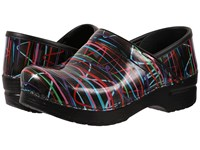Dansko Professional Streamers Patent Women's Clog Shoes Black