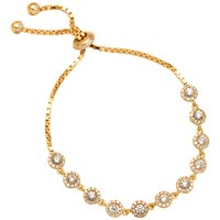 Adele Marie Gold Plated Sterling Silver And Cunic Zirconia Tennis Bracelet Gold