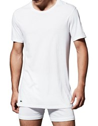 Lacoste 3 Pack Essentials Crew Neck Tee White 3 Pack