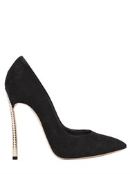 Casadei 120Mm Blade Embellished Suede Pumps