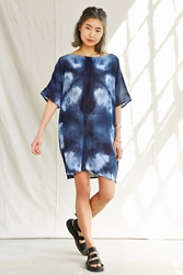 Urban Renewal Riverside Tool And Dye Tunic Dress Navy