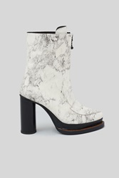 Opening Ceremony Korinne Marble Platform Zip Boots Off White Multi