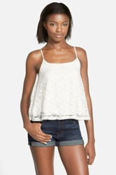 Frenchi R Lace Camisole Juniors White
