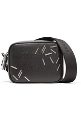 Christopher Kane Embellished Leather Shoulder Bag Black