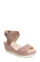 Women's Gabor Grid Perforated Platform Sandal 2 3 4' Heel
