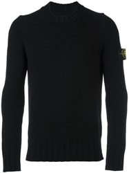 Stone Island Ribbed Detailing Pullover Black