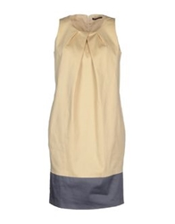Andreaturchi Short Dresses Beige