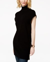 Inc International Concepts Zipper Detail Turtleneck Tunic Only At Macy's