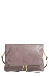 Hobo Adrian Leather Crossbody Bag Grey Granite