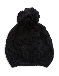 Modena Cable Knit Hat Black