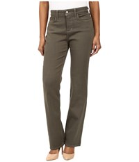 Nydj Petite Marilyn Straight Jeans In Luxury Touch Denim In Topiary Topiary Women's Jeans Green