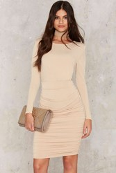 Nasty Gal Sugar Kisses Mini Dress Beige