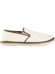 Buttero Contrasting Trim Slippers