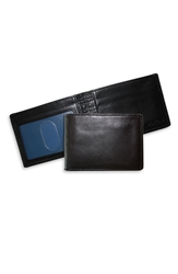 Boconi 'Slimster' Wallet Black Blue
