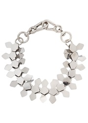 Moxham Kline Silver Tone Laser Cut Necklace