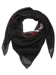 Givenchy Rottweiler Printed Silk And Cashmere Scarf