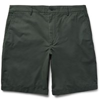 Club Monaco Maddox Cotton Twill Shorts Green