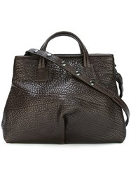 Marsell Popper Fastening Sides Tote Brown
