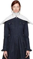 J.W.Anderson Off White Leather Capelet