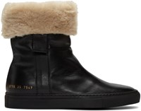 Common Projects Black Sherpa Boots