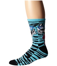 Neff Wild Tiger Socks Blue Men's Crew Cut Socks Shoes