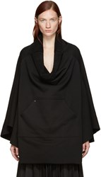 Bless Black Fleece Poncho Sweatshirt
