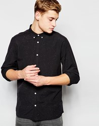 Solid Oxford Button Down Collar Shirt Black