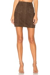 Mkt Studio Jipsone Suede Skirt Brown