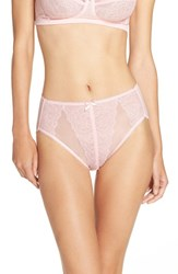 Wacoal Plus Size Women's 'Retro Chic' High Cut Briefs Almond Blossom