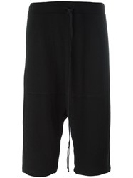 Lost And Found Rooms Drop Crotch Shorts Black