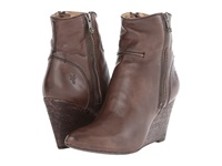 Frye Regina Seam Wedge Charcoal Smooth Vintage Leather Cowboy Boots Gray