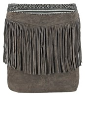 Goosecraft Leather Skirt Dark Grey Dark Gray