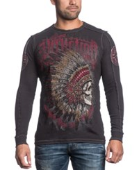 Affliction Reversible Thermal Peace Pipe Long Sleeve Shirt