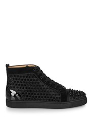 Christian Louboutin Louis Spike Embellished Glitter Trainers