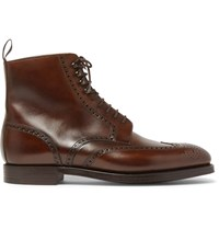 George Cleverley Bryan Leather Brogue Boots Brown