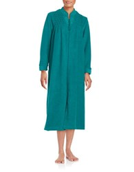 Miss Elaine Embroidered Mumu Duster Robe Jade