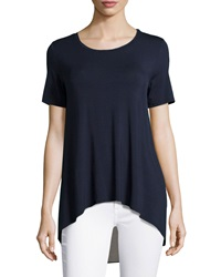 Philosophy Chiffon Back High Low Tee Ink Seal