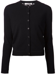 Valentino Floral Lace Panel Cardigan Black