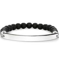 Thomas Sabo Love Bridge Engraveable Obsidian Bracelet